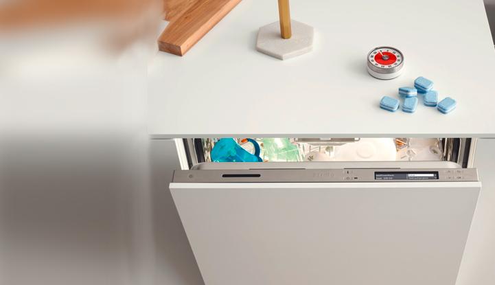 1 год чистоты вместе с Miele! Получите годовой запас моющего средства UltraTabs Multi при покупке новой посудомоечной машины серии EcoFlex.