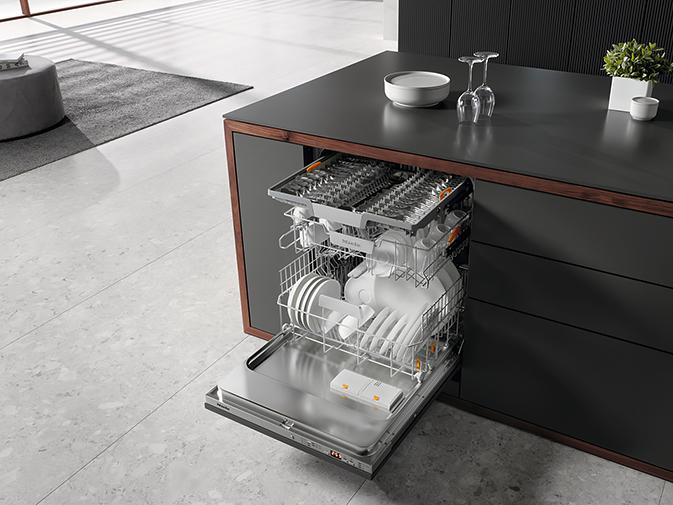 Новые посудомоечные машины G 5000 предлагают эксклюзивные функции по привлекательным ценам. На фото изображена полновстраиваемая модель G 5265 SCVi XXL.